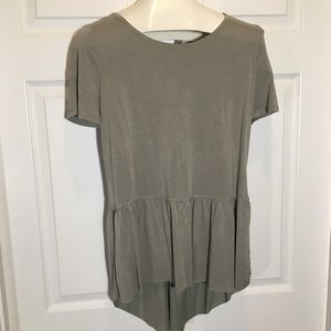 Mote High Low Gray Tunic Size M